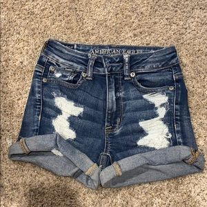 high-waisted denim jean shorts